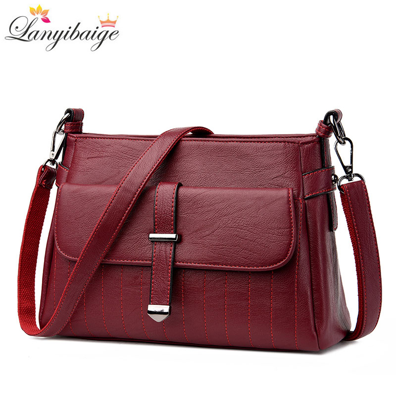 LANYIBAIGE Brand Women Shoulder Bag Designer Leather Fashion Ladies Crossbody Bag New 2018 Female Messenger Bags Girl Tote S