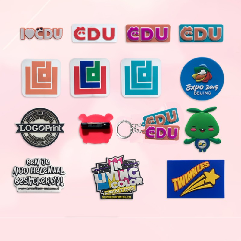 Customized Keychain Personalized Cartoon PVC Key Chain Make Your Own Design Business Logo Key Ring For Wholesale Special Gift