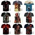 2017 adolescente Americano de Quadrinhos Deadpool Badass T Camisas Dos Homens de Verão/Boy Manga Curta Moderno Legal Tee Tops Roupas para 14-20 Anos