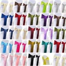 chair covers sash for wedding /7*108 sapphire satin bows decoration supplies