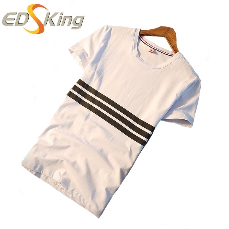 新しい·マンブラックストライプ無地tシャツボディービルフィットネス圧縮tシャツメンズファッション