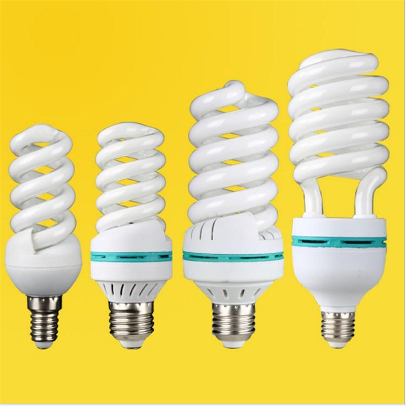 10pcs/lot 220V E27 E14 B22 65W 85W 125w High Power Spiral Tube Energy Saving Lamp Fluorescent Light Bulb Tube Wholesale