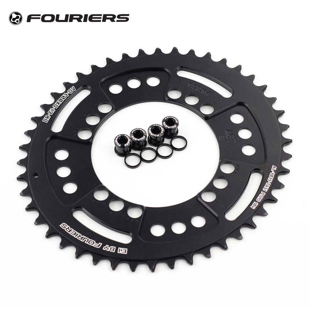 Fouriers 7075 Oval Single Chain Ring 38T 40T 42T 44T 46T 48T Chainrings BCD 104mm Narrow Wide Tooth MTB Bike Chainwheel Crank 1pc fouriers cnc bike bicycle single chain ring 34t 36t chainrings p c d 104 for s h i m a n o oval shape narrow wide tooth