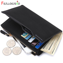 FGJLLOGJGSO Men PU leather wallet High quality short billeteras mens cute famous brand wallet thin wallet male Bank card purse