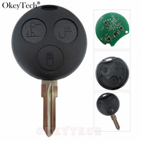 Okeytech 3 أزرار الذكية مفتاح بعيد 433MHz مجلس مفتاح بعيد فوب شفرة لبنز مفتاح الذكية Fortwo فورفور رودستر كوبيه Crossblad