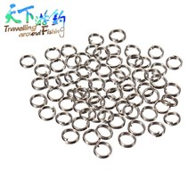 100pcs/lot Stainless Steel Split Ring for Blank Fishing Lure Diameter 2.5-5.5mm Carp Rig Rings Bait Fishing Accessories Tackle rompin 100pcs stainless steel split rings for blank lures crank bait hard bait carp fishing tools double loop 6mm 7mm 8mm