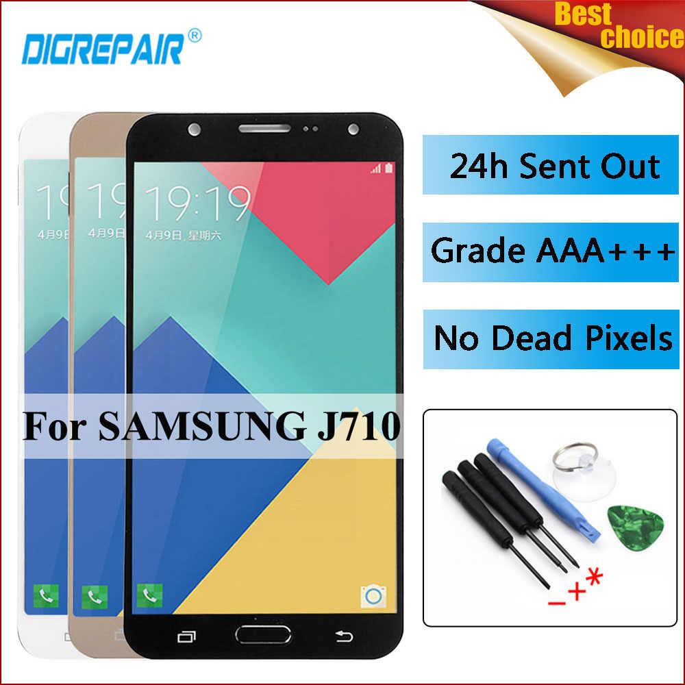 สำหรับ samsung Galaxy J7 2016 จอแสดงผล J710 J710F J710M J710H J710FN LCD Display Digitizer หน้าจอสัมผัสสำหรับ samsung j7 2016 lcd