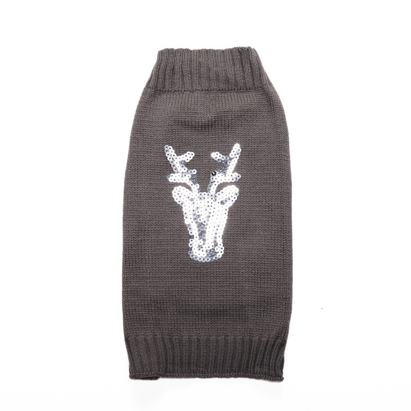 New Autumn/winter Wool Pet Dog Sweaters Christmas Elk Scale Embroidery Knitting Sweater for Small and Medium Dog Pet Clothes