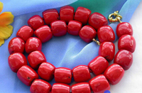 Hot selling@> A906 HUGE 16MM column red coral bead NECKLACE Bride jewelry free shipping