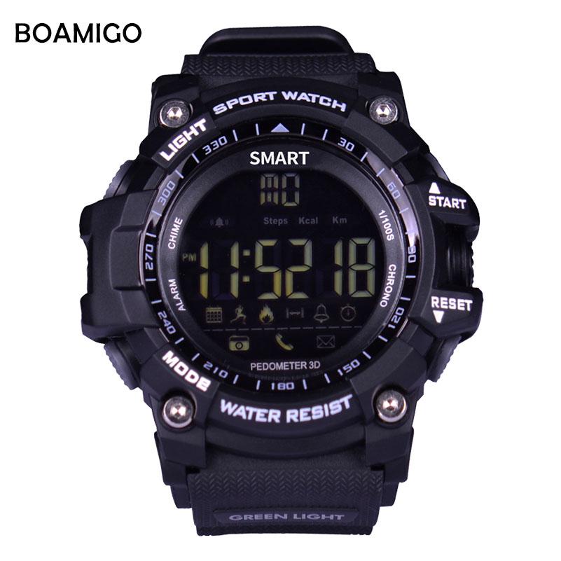 Smart Watches heren Sportarmband BOAMIGO Fashion Horloges Call - Herenhorloges