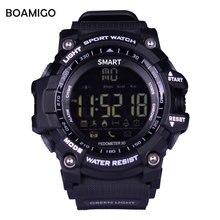 Smart Watches men Sports Wristband BOAMIGO Fashion Watches Call Message Reminder pedometer Calories bluetooth waterproof watch