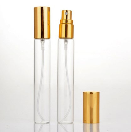 100/500 pcs 15 ml Mini Lege Glazen Navulbare Verstuiver Parfum Fles Pomp Spray Case Reizen Containers Goud Zilver Zwarte Cover - 5