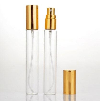 100/500 pcs 15 ml Mini vide verre rechargeable atomiseur parfum bouteille pompe vaporisateur étui voyage conteneurs or argent noir couverture - 5