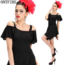 ONTFIHS  Latin Dance Dress Women Square Dancing Dress Salsa Samba Tango Ballroom Competition Costume Lady Practise