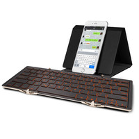 Universal BACKLIT(backlight) Foldable Wireless Bluetooth Keyboard For iPad,Smartphone and tablets PC (Ergonomic & Aluminum body)