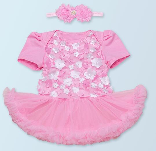 Reborn Doll 22'' White Pink Skirt Lovely Mickey Mouse Socks Baby Headdress gift