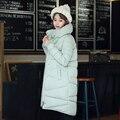 2016 chaqueta de invierno mujeres abajo parkas chaqueta de algodón abrigo de las mujeres medio-largo espesar mujeres de talla grande de algodón acolchado chaqueta de la ropa