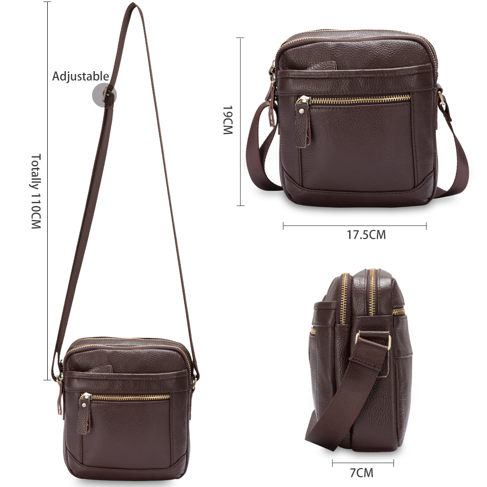 Male Genuine Leather Handbags Men S Bags Over The Shoulder Fashion Young Man Crossbody Purse Casual Zipper Messenger Packs On Aliexpress Alibaba