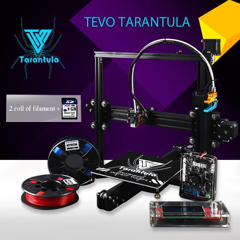 Imprimante 3D TEVO Tarantula I3 Aluminium Extrusion 3D Printer kit printer 3d printing 2 Rolls Filament 8GB SD card LCD As Gift