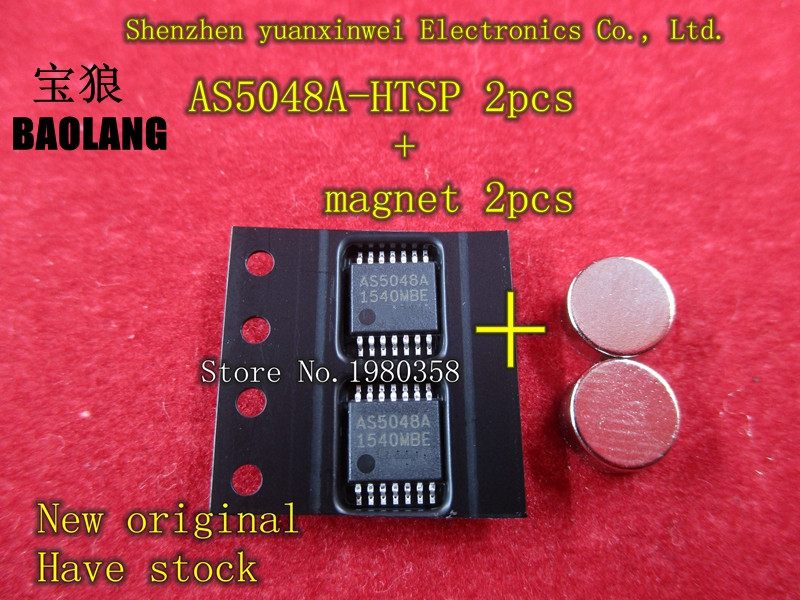 5PCS AS5048A-HTSP AS5048A AS5048 SSOP14 With Magnet Original Authentic And New In Stock