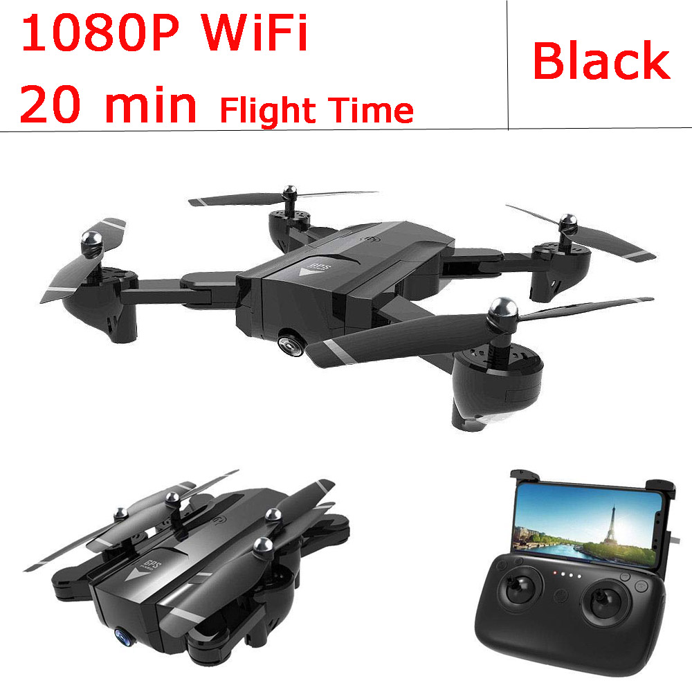 EBOYU SG900S RC Drone 1080P/720P HD Camera WiFi FPV GPS Positioning Follow Me Altitude Hold Foldable RC Quadcopter GPS Drone RTR