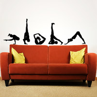 Popular Home Claptrap Decor Difficult YoGa Poses Wall Decals Vinyl Stickers Yoga Studio Fitness Decative Adhesives