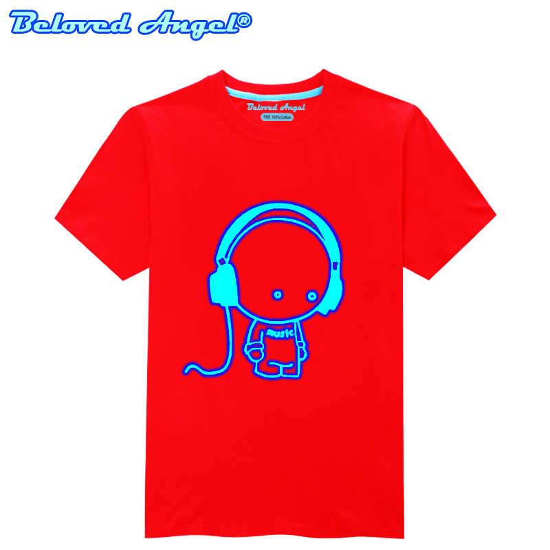 זוהר ילדי חולצה ילדי תינוק קריקטורה חולצה זוהר בחושך Tees פעוטות בני מזדמן סווטשירט בני נוער בנות אימונית חולצות