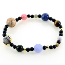Solar System 9 Planets Universe Stars with Natural Stones Beaded  Bracelets