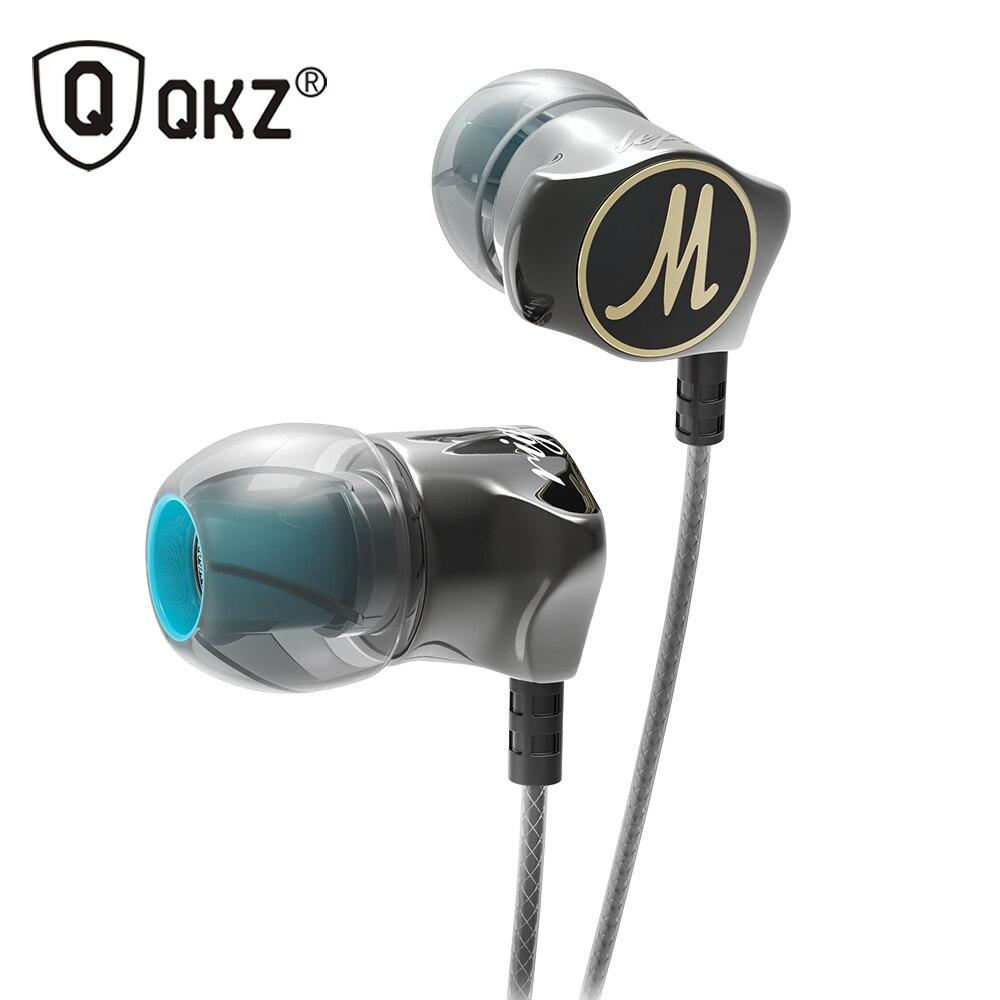 Auricular QKZ DM7 de aleación de Zinc en el oído auriculares HiFi fone de ouvido auriculares inalámbricos audífonos estéreo BASS Metal DJ