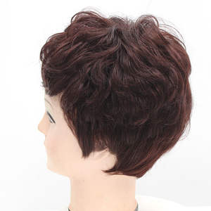 Human-Hair-Wigs Hair-Extension Short-Machine Spiral Women Curl with Bangs 100%Remy Afro