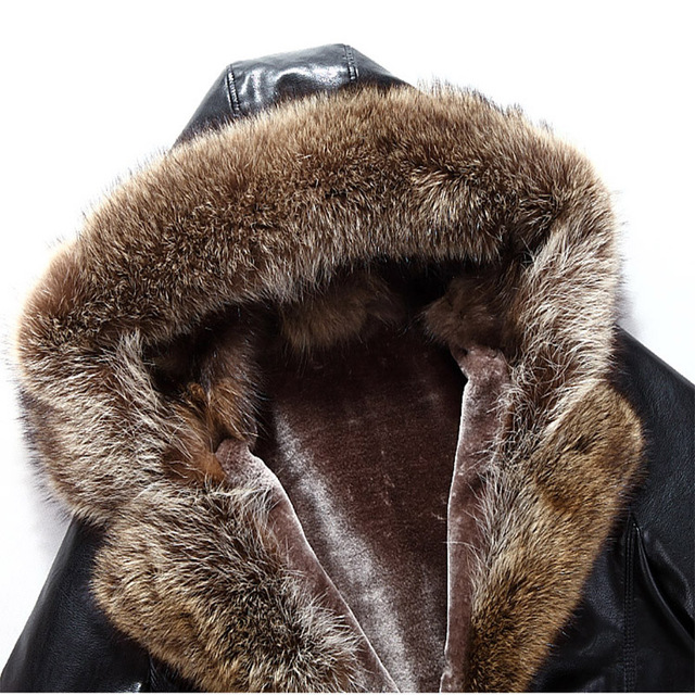 2018 New Jackets Men Hot Sale Autumn Winter Warm Outwear Hooded Slim Mens Coats Casual Solid Turn-Down Wool Fur Jackets Men