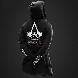 Autumn Winter Hoodies Men Long Sleeve Sweatshirts Black Cloak Shawl Outwear Streetwear Style Hooded Men's Plus 3