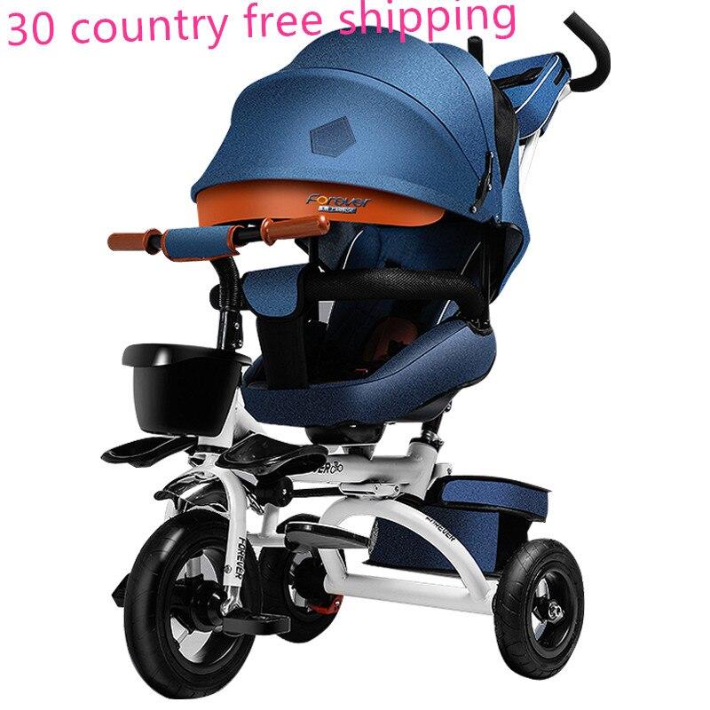 Bébé bidirectionnel enfant bébé balance poussette vélo tricycle vélo 360 change Trolley bébé poussette 2 en 1 pour bebe 1-8 ans