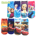 6Pair/lot Cute Baby Clothes Kids Socks Breathable Children Girls Boys Socks Cotton 3D Printing Cartoon Pattern 20 Kind Of Style