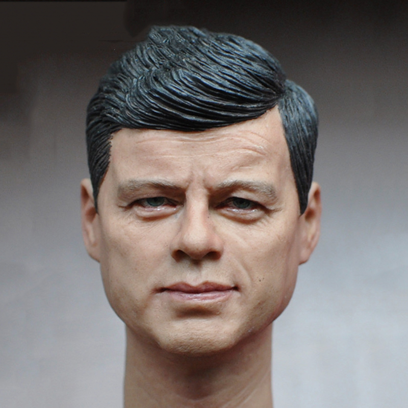 1/6 Scale American President John Fitzgerald Kennedy Head Sculpt for 12 Inches Mens Bodies Dolls Figures Toys Gifts Collections 12 inches male muscular body figures without neck for 1 6 scale mens head sculpts gifts collections toys