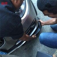 W204 W205 W211 W212 Universal Matt Black FRP Side Bumper Lip Splitter Apron for Mercedes Benz