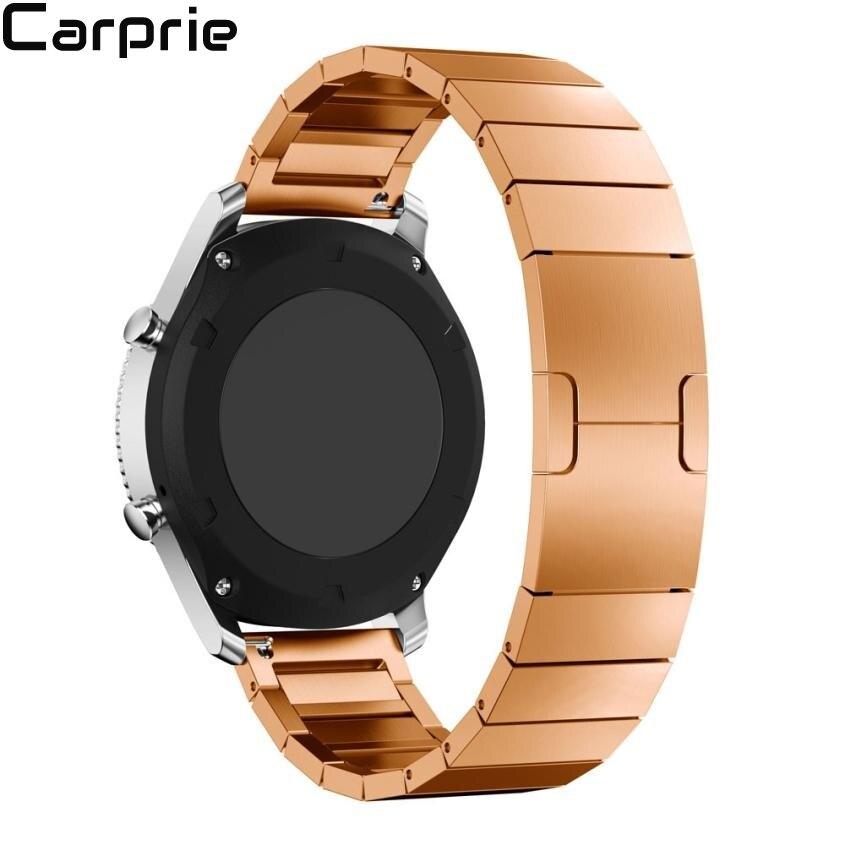 Meilleur Prix! Bracelet de montre en acier inoxydable bracelet de montre fermoir en métal pour Samsung Gear S3 Frontier livraison directe à chaud DEC30