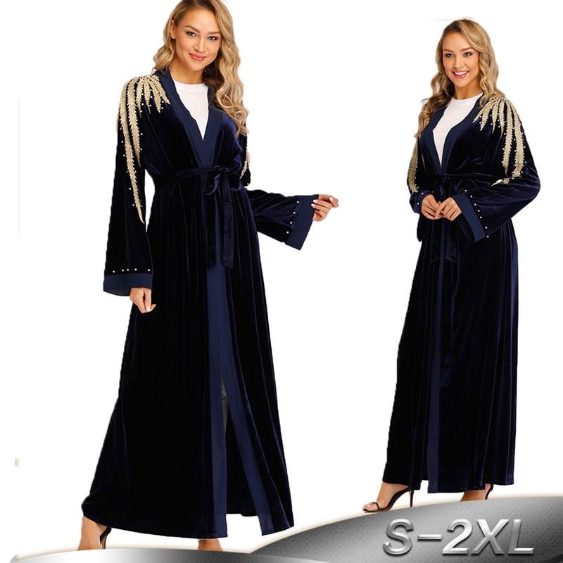 Kaftan Robe Dubai Abaya Kimono Muslim Hijab Dress Abayas For Women Qatar UAE Oman Caftan Marocain Turkey Elbise Islamic Clothing
