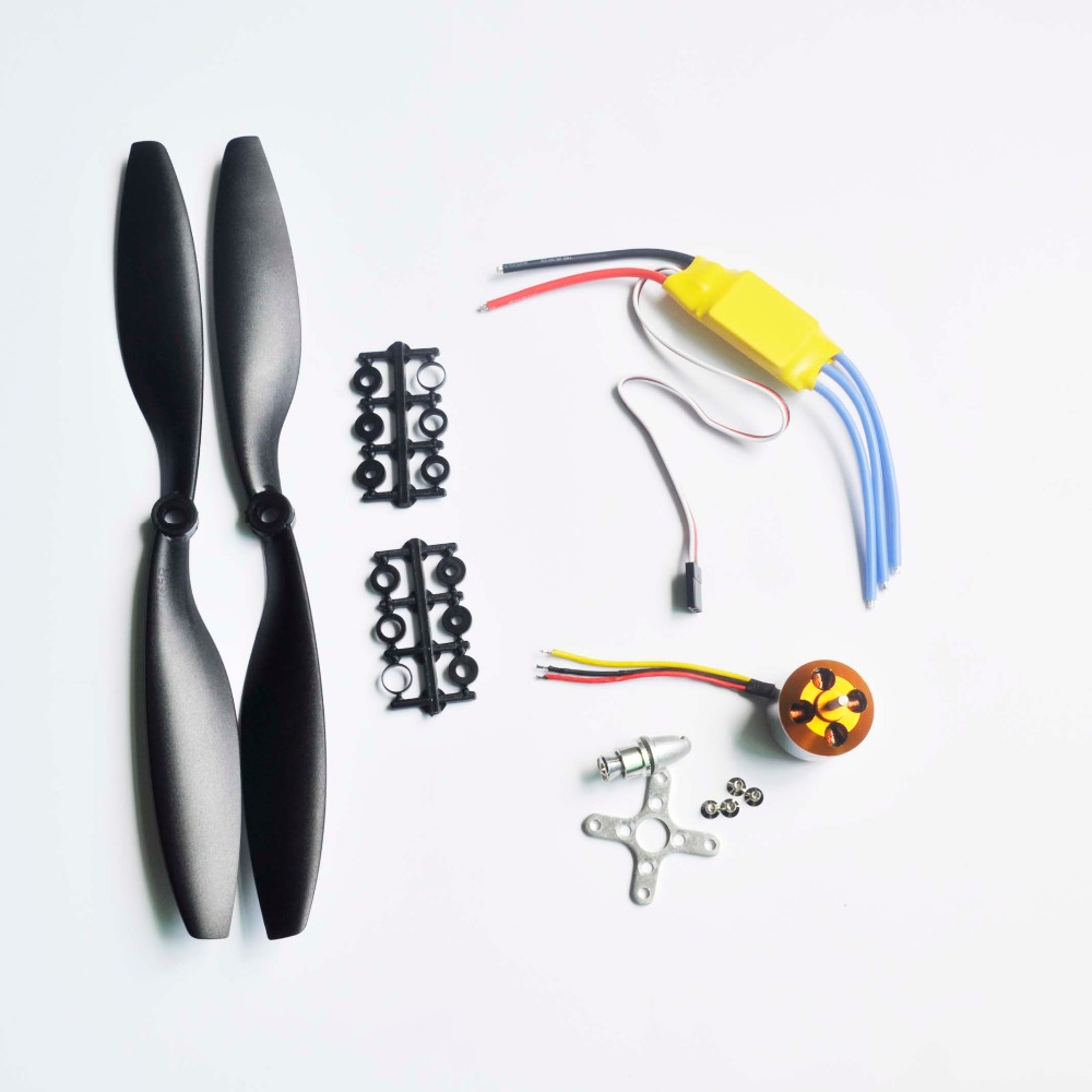 A2212  1000KV Brushless Outrunner Motor + 30A ESC 1045 black  Propeller Quad-Rotor Set for RC Aircraft Multicopter ZMR quality 4pcs 6215 170kv brushless outrunner motor with hv 80a esc 2055 propeller for rc aircraft plane multi copter
