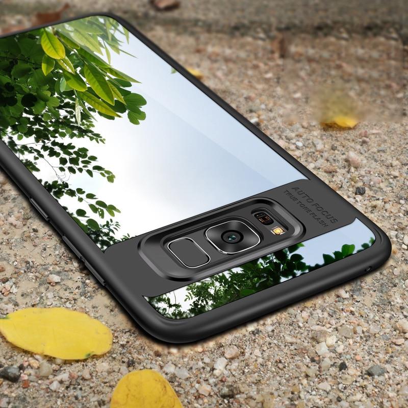 Toraise Volle Schutz Für Samsung Galaxy S8 Fall Schlank TPU & acryl Transparent Rückseite Case für Samsung S8 plus Galaxy...