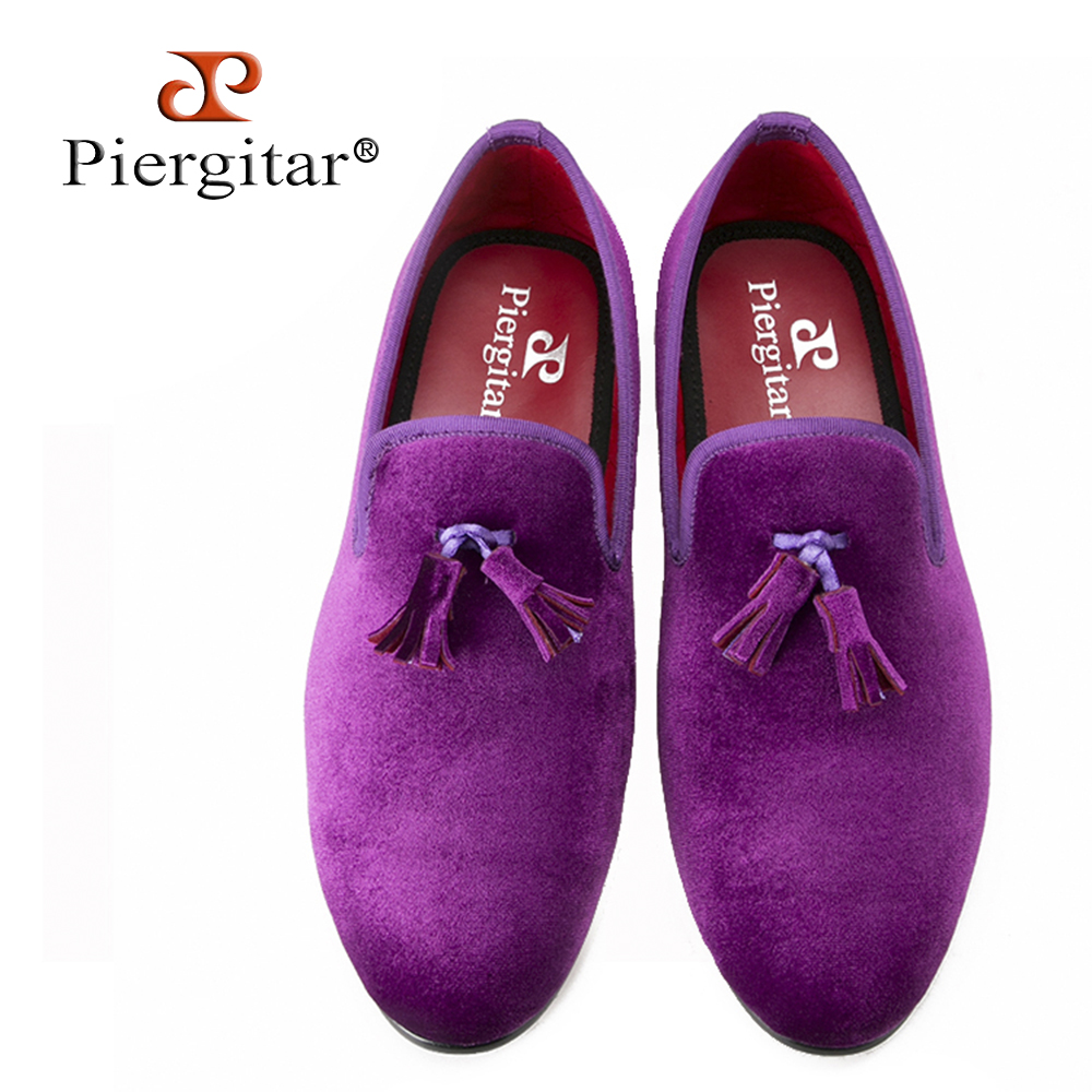 Piergitar 2017 New Handmade men velvet shoes with various colors are available Party and Banquet men loafers men dress shoes piergitar 2016 new india handmade luxurious embroidery men velvet shoes men dress shoes banquet and prom male plus size loafers