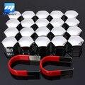 20 unids/set 19mm Caps Pernos de Nueces Cubiertas de Rueda de Aleación de Coche De Plástico Protectores de Cromo Mate
