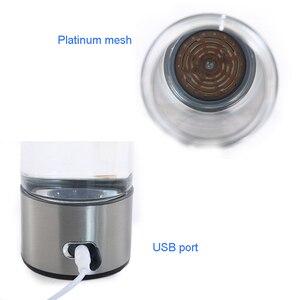 Image 2 - 500ML taşınabilir hidrojen zengin jeneratör su filtresi Ionizer H2 PEM zengin hidrojen alkali şişe elektroliz içecek hidrojen