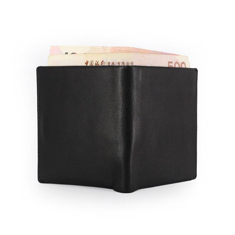 genuíno bolsas de couro mini Wallet Men : Portefeuille Homme