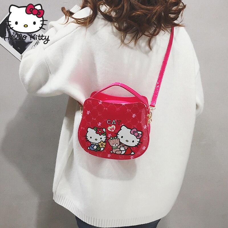 Hello Kitty 2019 Bag Hand Bags Fashion Single Shoulder Diagonal Bag Lovely Girls Cartoon Pink Kids SchoolBag Plush Backpack Bag in Plush Backpacks from Toys Hobbies