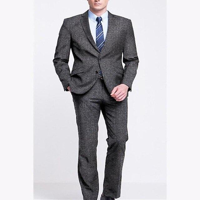 2018 nuevos trajes de hombre a cuadros Terno traje de boda 2 botones novio  esmoquin trajes de mezcla de lana a medida para hombre (chaqueta +  pantalones) en ... 4c75653ccb9c