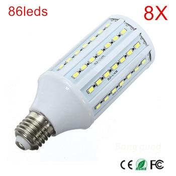 8PCS High Brighter 86led chips SMD 5730 E27 E14 AC90-260V AC110V 220V 240V LED Corn Light Bulb Warm/Cool White led Bulb lamps