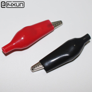 500pcs High Quality 54mm Big Steel Alligator Clip with PVC Shell Welding or Line Pressing