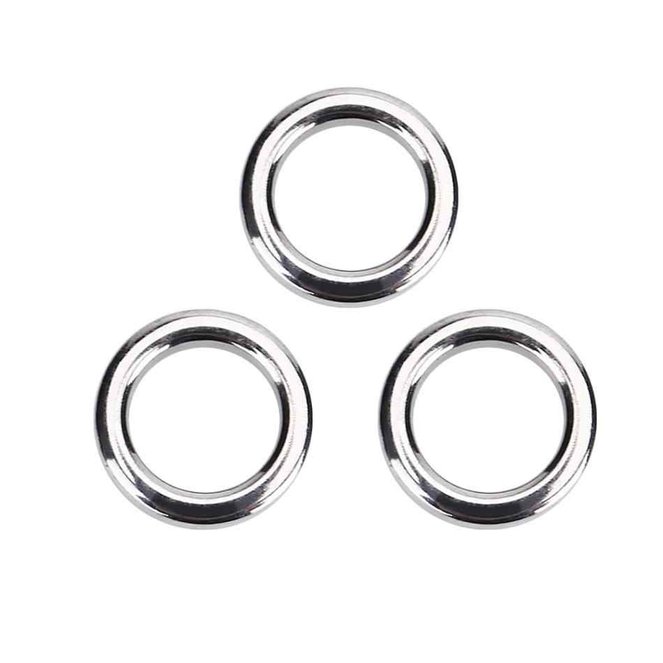 50 Piece Stainless Steel Split Ring Assortment Assorted Rings Tackle Q6I8