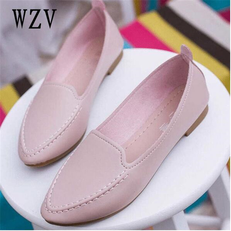 2018 spring and summer new pointed toe women shoes with single shoes female wild flat shoes student Peas shoes B137 flats new women s shoes in spring and summer 2017 will be able to make comfortable and sweet flat footed women s shoes